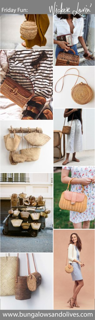 Friday Fun: Wicker Bags