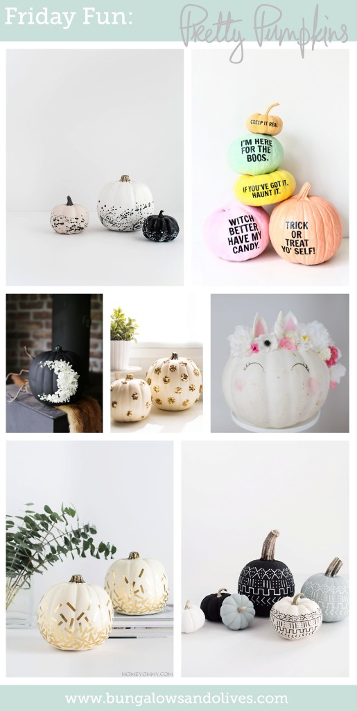 Friday Fun: Pretty Pumpkins