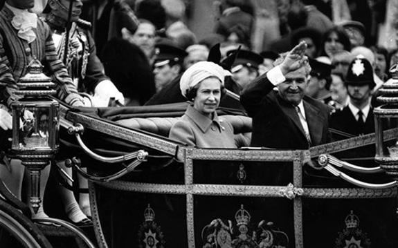 1978 Ceauşescu în Marea Britanie Foto: Getty Images