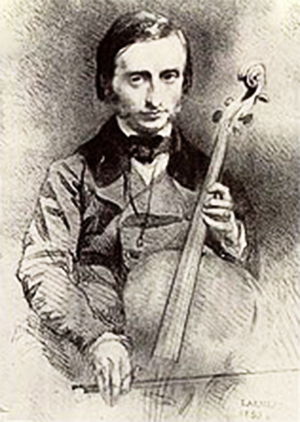 Jacques Offenbach. Drawing by Alexandre Laemlein (1)