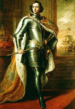 1711 Petru I, țarul Rusiei. Portret de Godfrey Kneller