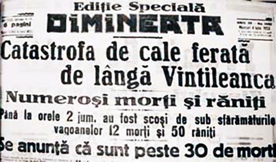 1923 Accidentul feroviar de la Vintileanca