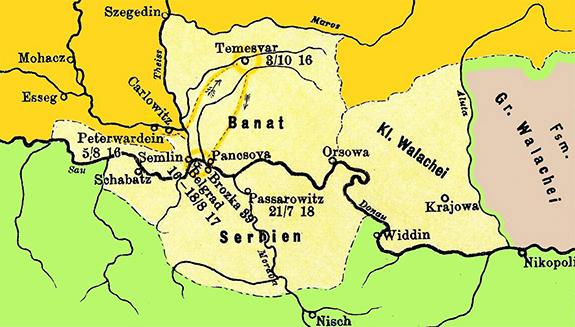 1718 Tratatul De La Passarowitz