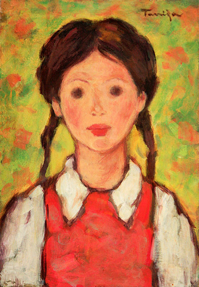 The Girl with Plaits