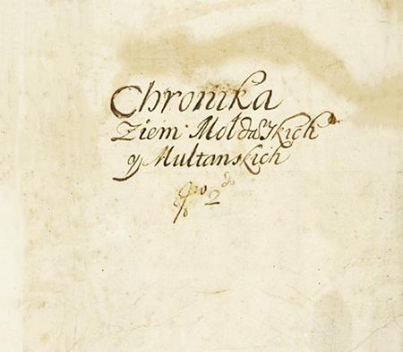 1677a Cronica Ţărilor Moldovei şi A Munteniei