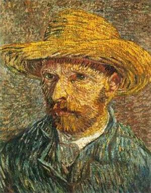 Autoportret cu pălărie de paie