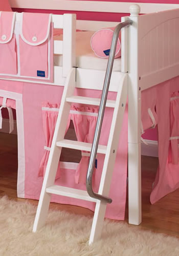 Maxtrix Kids Princess Castle Loft Bed With Slide