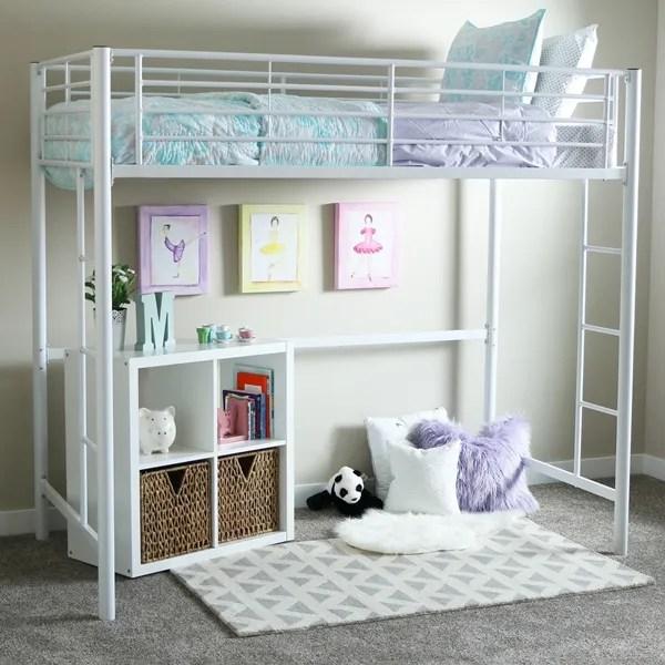 Teen Loft Beds - Twin White Metal Loft Bed on Teenage Bed  id=66195