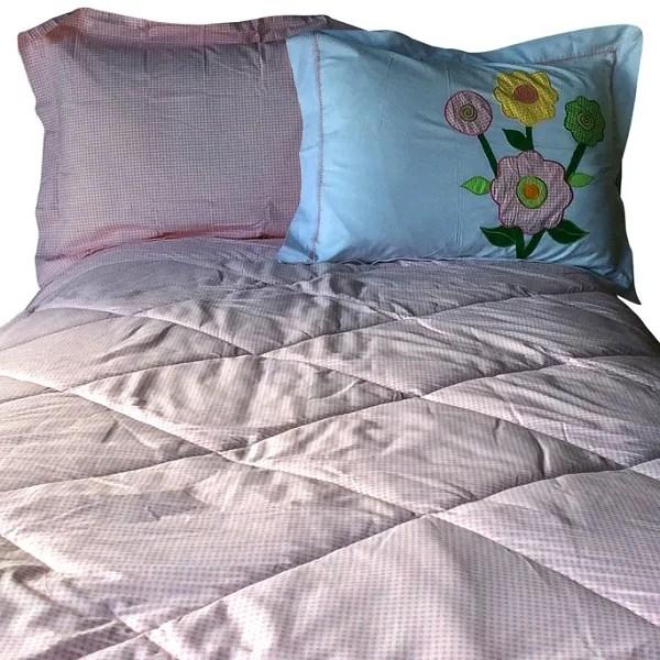 Spring Garden Bunk Bed Hugger Pink Gingham Bedding