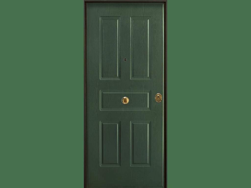 porta blindata con pannello 5 bugne acciaio pvc