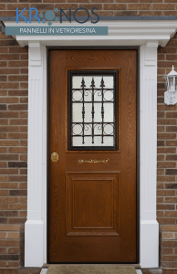 porta blindata con pannello in vetroresina kronos ares