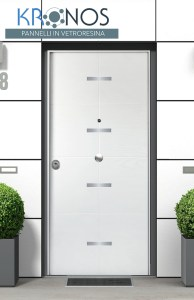 porta blindata con pannello in vetroresina kronos poseidon