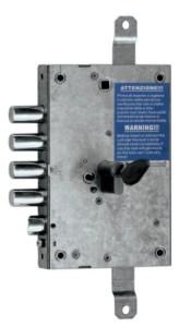 serratura triplice con trappola ad ingranaggio