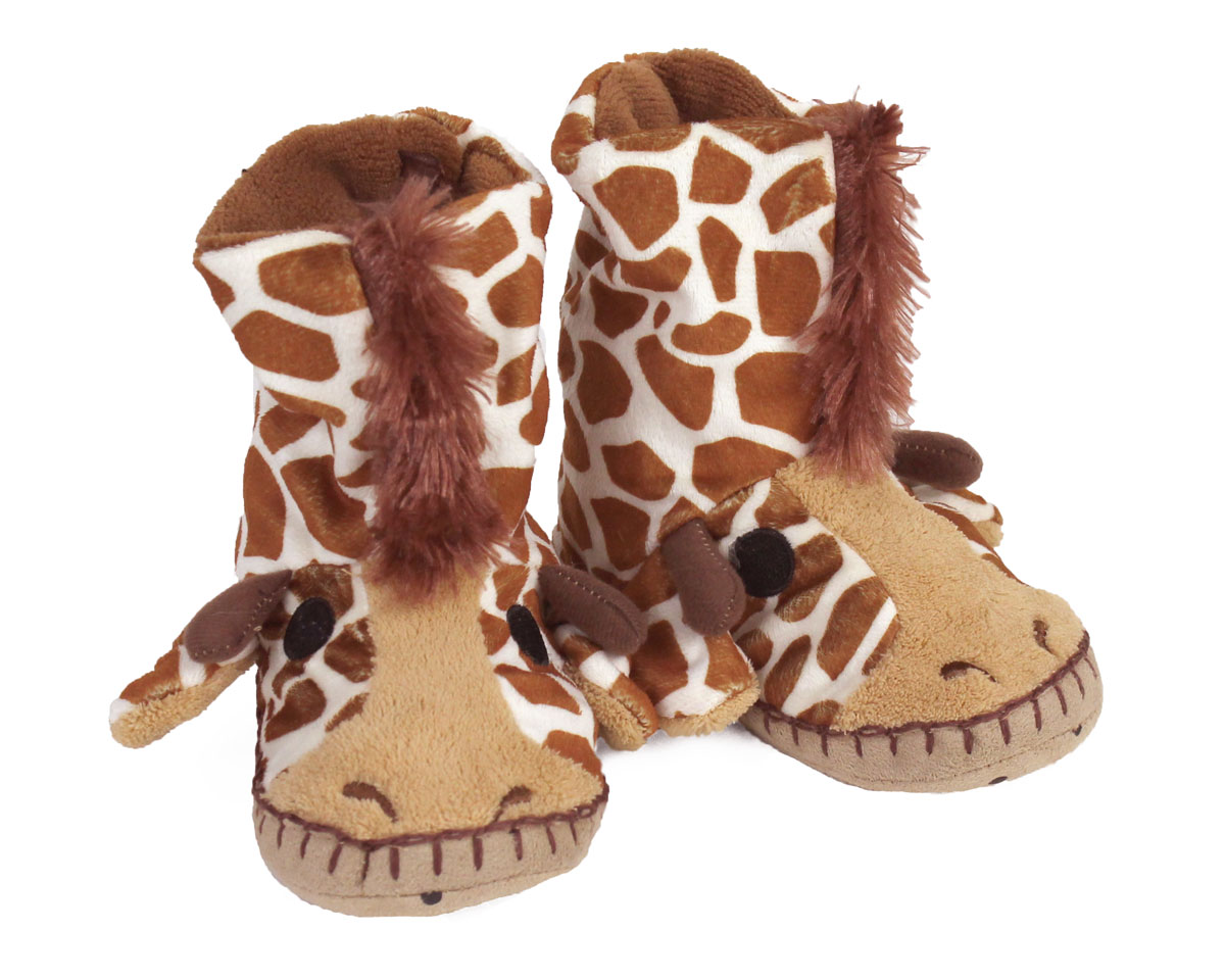 Kids Giraffe Slouch Slippers