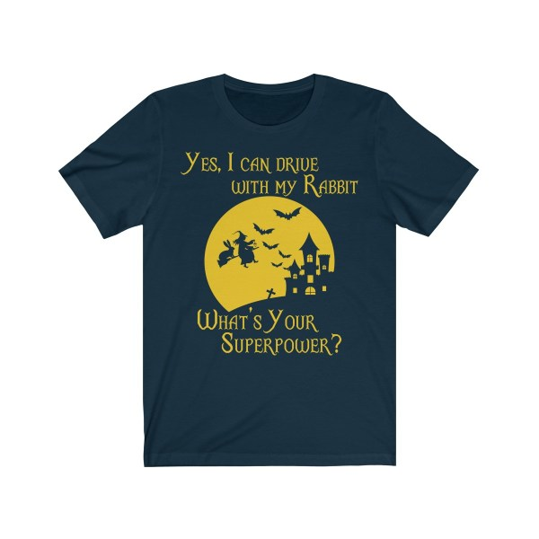 I Can Drive With My Rabbit In Halloween Tshirt