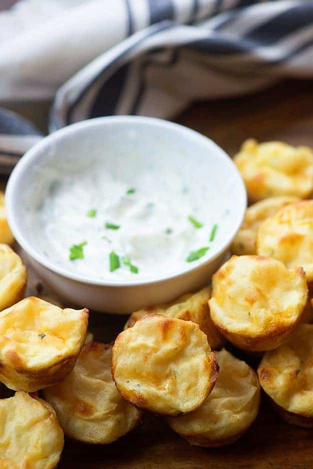 Mashed potato puffs! These are the easiest snack ever and that dip is perfect with them!