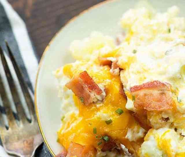This Loaded Cauliflower Bake Is Full Of Cream Cheese Cheddar Bacon And Cauliflower