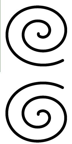 Spirale destra e sinistra