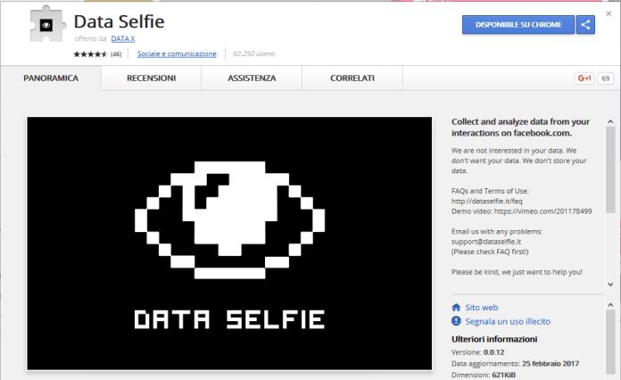 data selfie chrome