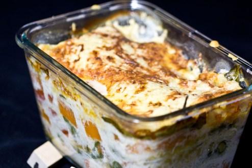 Kürbis / Spinat Lasagne