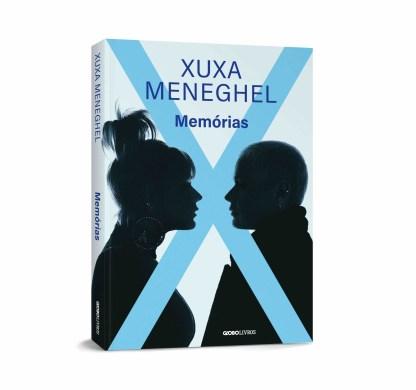 Capa em perspectiva do livro Memórias de Xuxa Meneguel
