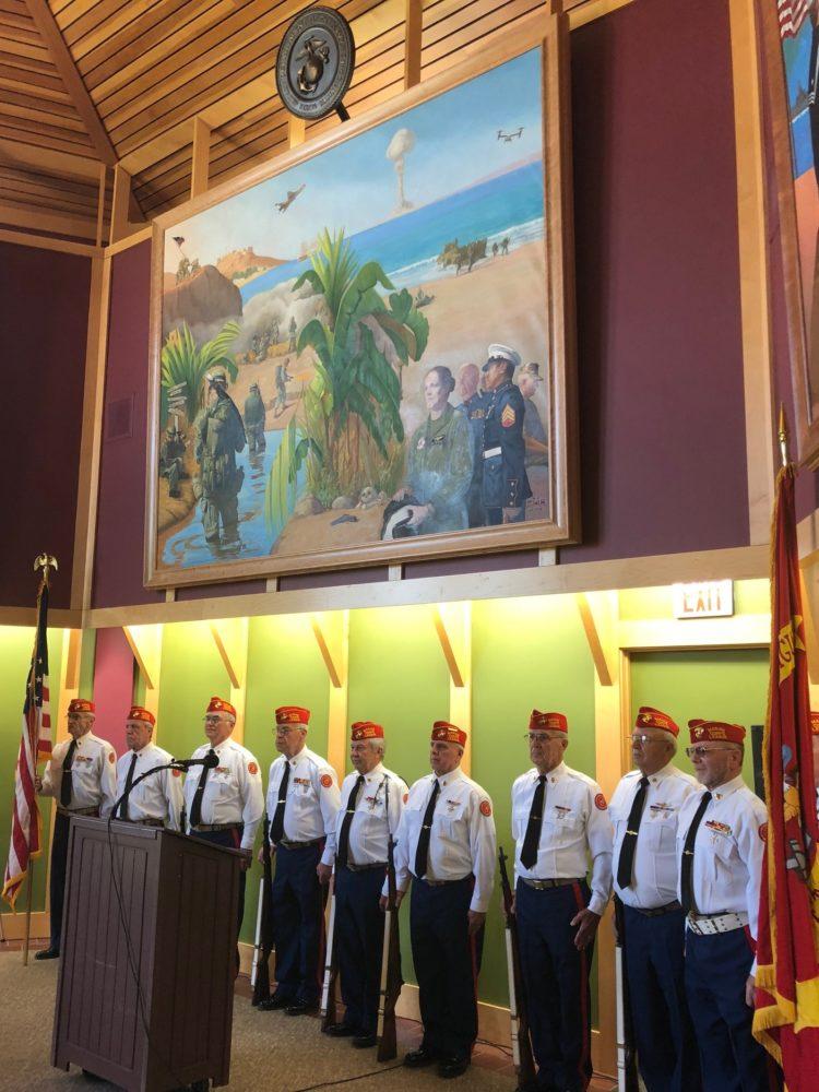 U.S.Marine Corps in Committal Hall