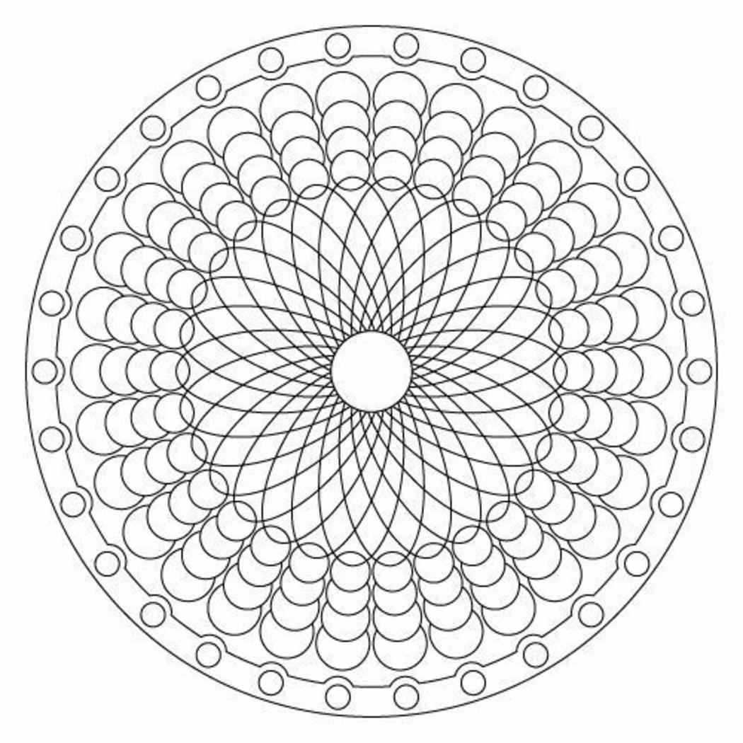 Disegni Da Colorare Geometrici Per Adulti Mandala