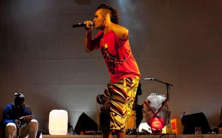 Luaty Beirao in un concerto in Portogallo