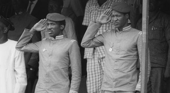 Thomas Sankara e Blaise Compaorè in una foto del 1983