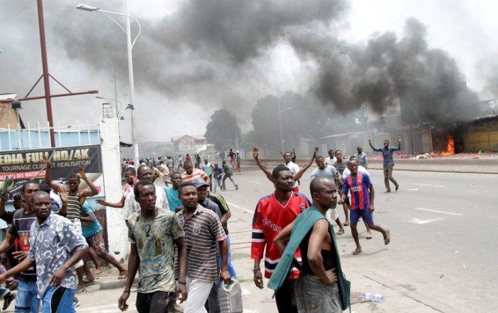 Le proteste a Kinshasa