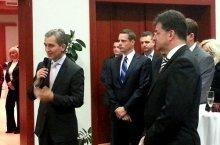 Lajcak con il ministro moldavo Leanca (BS)