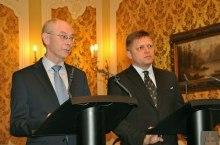 Robert Fico con Van Rompuy (vlada.sk)