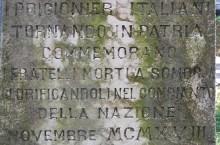 Samorin (Somorja), cippo al cimitero italiano