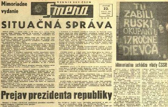1968, alla mezzanotte del 20 agosto partì l'operazione in codice Danubio