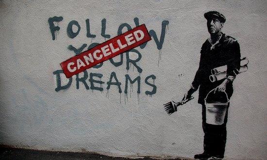 lavoro_bansky,followyourdreams_(Chris Devers@flickr_CC)
