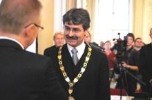 Milan Ftacnik con l'ex sindaco Andrej Durkovsky