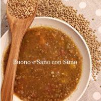 Zuppa lenticchie e avena
