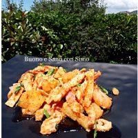 Pollo light all'ananas e mandorle