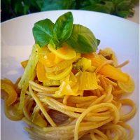 Spaghetti integrali risotatti al curry