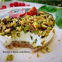 Cheesecake Salata al Basilico e Pistacchi