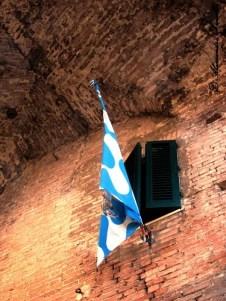 Siena bandiera contrada onda