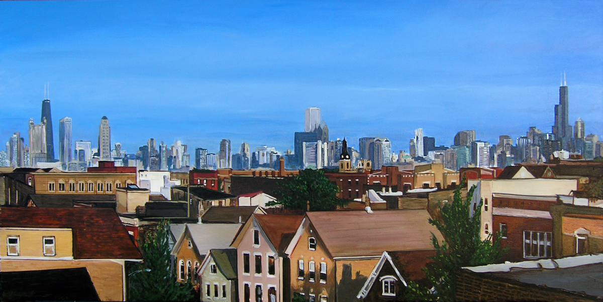 Chicago Skyline from Bucktown