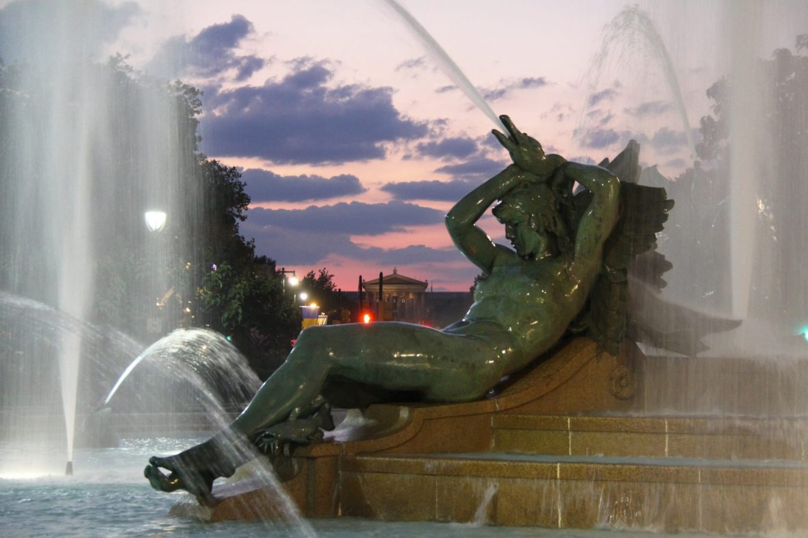 Philadelphia Fountain at Night