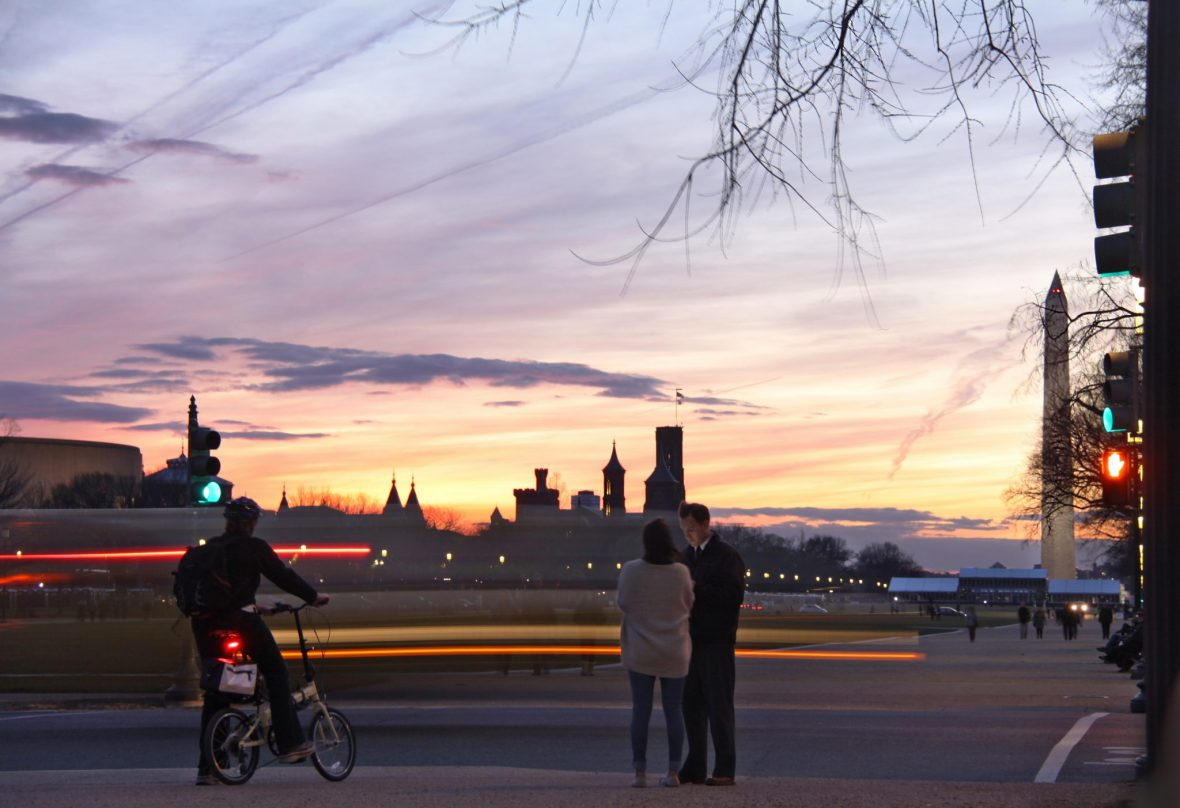 Washington, DC Sunset at Rush Hour