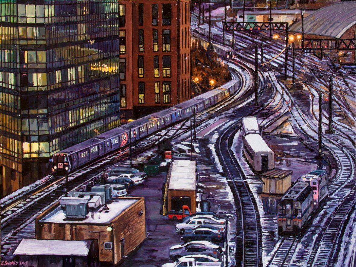 Union Station Trainyard at Night