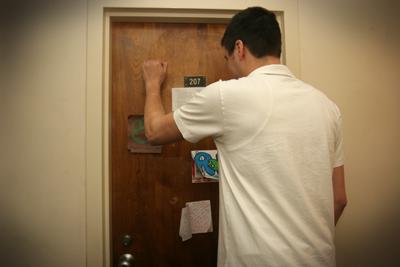 Image result for college ra knocking on dorm door