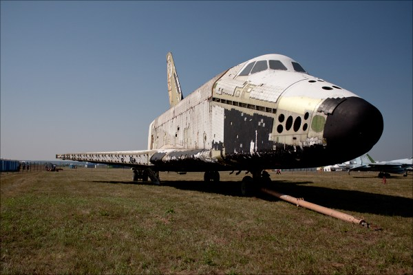 Soviet Space Shuttle found abandoned in its metal