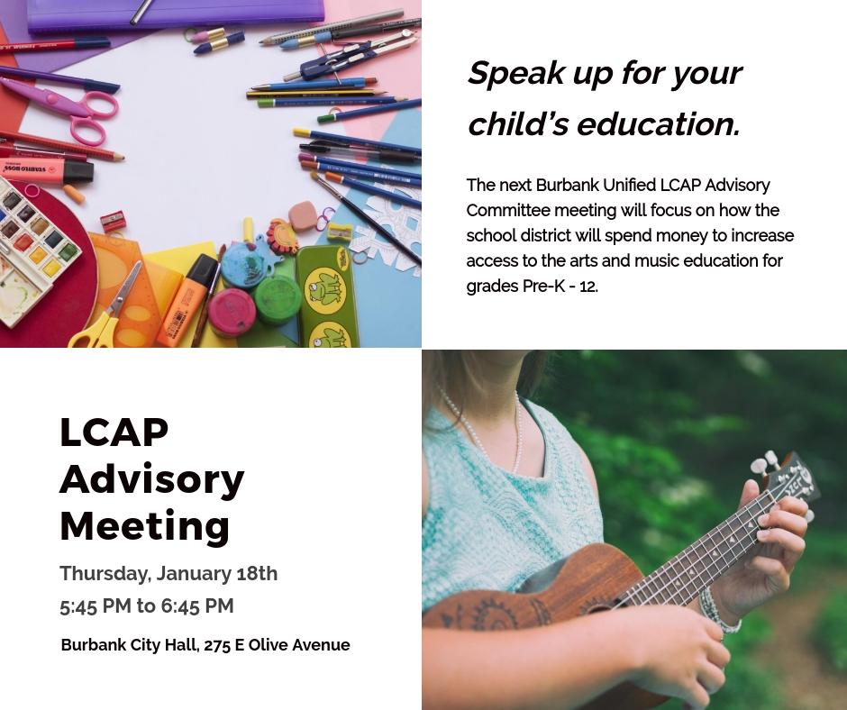 LCAP Advisory Committee Meeting January 18th