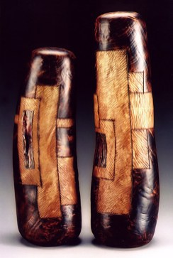 """19"""" x 6"""" Diameter and 15"""" x 7"""" Diameter Madrone Burl, Copper (Available for Purchase)"""