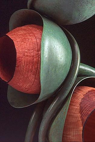 """14"""" x 4"""" x 4"""" Copper, Madrone Burl"""